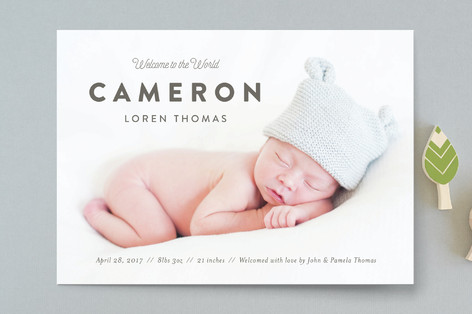 Big Debut Birth Announcements