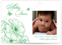 Garden Vignette Birth Announcements