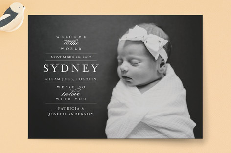 In Love Birth Announcements