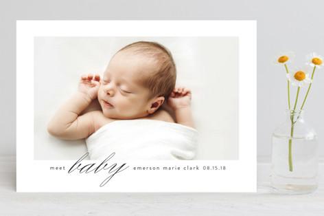 meet baby Birth Announcements