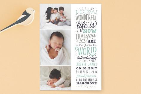 Wonderful Life Birth Announcements
