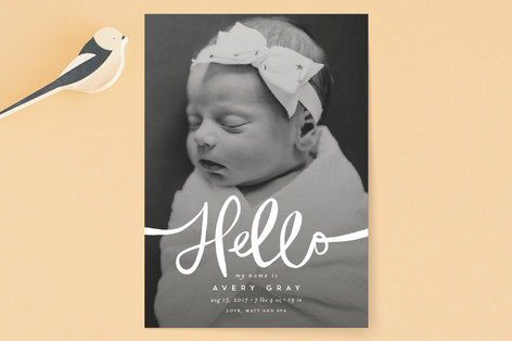 Warm Hello Birth Announcements