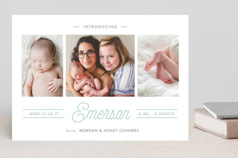 Soft Highlights Birth Announcements