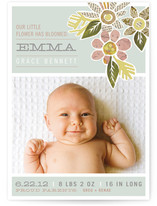 Heirloom Bloom Birth Announcements