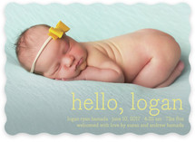 Hello Baby Birth Announcements