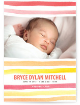 watercolor stripes Birth Announcements