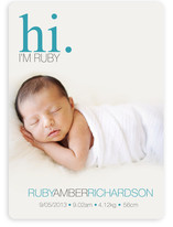 Subtle Ruby Birth Announcements