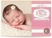 Patented Baby Girl Birth Announcements