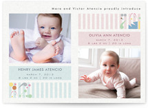 Twin Art Birth Announcements