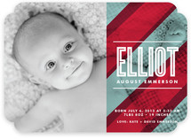 Beach Blanket Birth Announcements