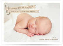 Paper Clipped Flags Birth Announcements