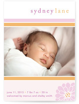 Preppy Flower Birth Announcements