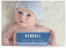 Basic Beauty Birth Announcements