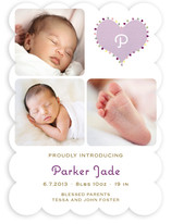 Coeur Pompom Birth Announcements