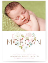 Floral Heart Birth Announcements
