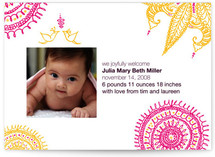 Joyful Lovebirds Birth Announcements