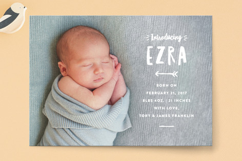 whimsical intro Birth Announcements