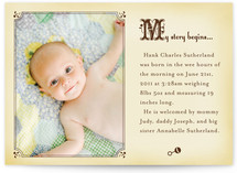 Storybook Birth Announcements
