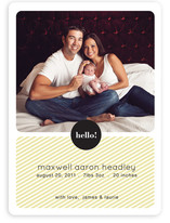 Hello Max Birth Announcements