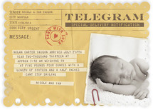 Telegram Birth Announcements