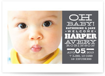 Oh Joyful News Birth Announcements