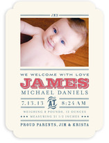 Wild West Baby Birth Announcements