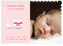 Hatched Egg Shell Baby Birth Announcements