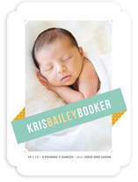 Angled Banner Birth Announcements By kelli hall