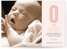 Antique Alphabet Birth Announcements