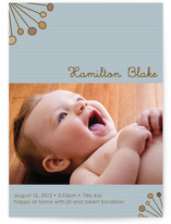 Deco Sunburst Birth Announcements