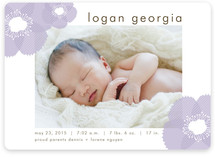 Soft Petals Birth Announcements