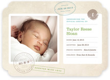 Home Sweet Home Birth Announcements