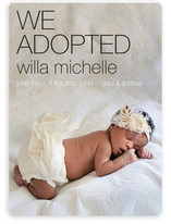 Adopted Urban Birth Announcements