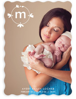 Petal Monogram Birth Announcements