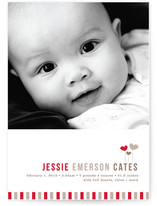 New Little Heart Birth Announcements