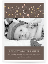 Treetop Monogram Birth Announcements