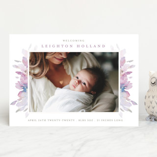 Spring Blooms Birth Announcements