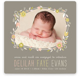 Botanical Frame Birth Announcements