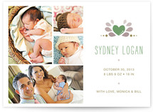 Perfectly Pretty Birth Announcements