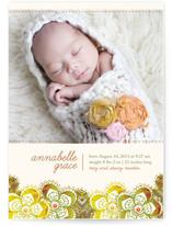 Autumn Florals Birth Announcements