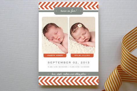 Double Trouble Birth Announcements