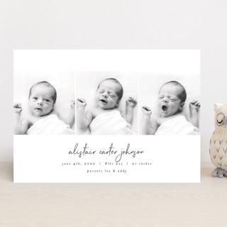 times three Birth Announcements