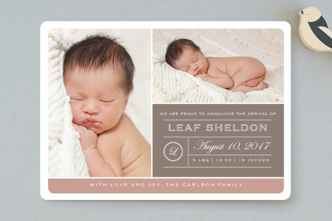 From Your Nose to Your Toes Birth Announcements