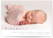 Baby Sophisticate Birth Announcements