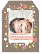 Baby Bouquet Birth Announcements