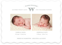 Pure Monogram Birth Announcements