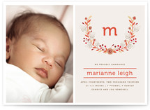 Legacy Wreath Birth Announcements