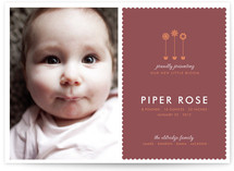 Little Blooms Birth Announcements