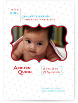 Modern Dottie Birth Announcements