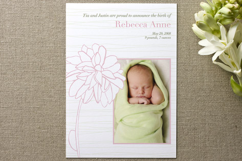 Modern Garden Birth Announcements
